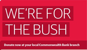 """""""WE'RE FOR THE BUSH"""" appeal with COMM Bank"""