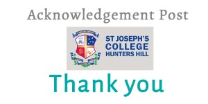 A Lovely Tribute by schoolboys Max & Jonathan of St Joeys – St Joseph's College Hunters Hill