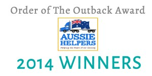 AUSSIE HELPERS – 2014 ORDER OF THE OUTBACK AWARD WINNER