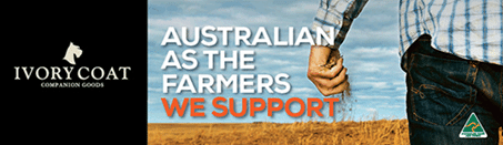 IVORY COAT COMPANION GOODS SUPPORTING AUSSIE HELPERS