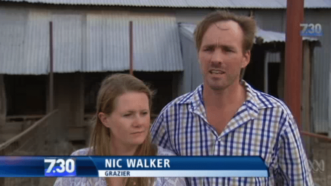 carley_and_nic_walker_longreach_farmers_ and Aussie Helpers with 7.30 Report