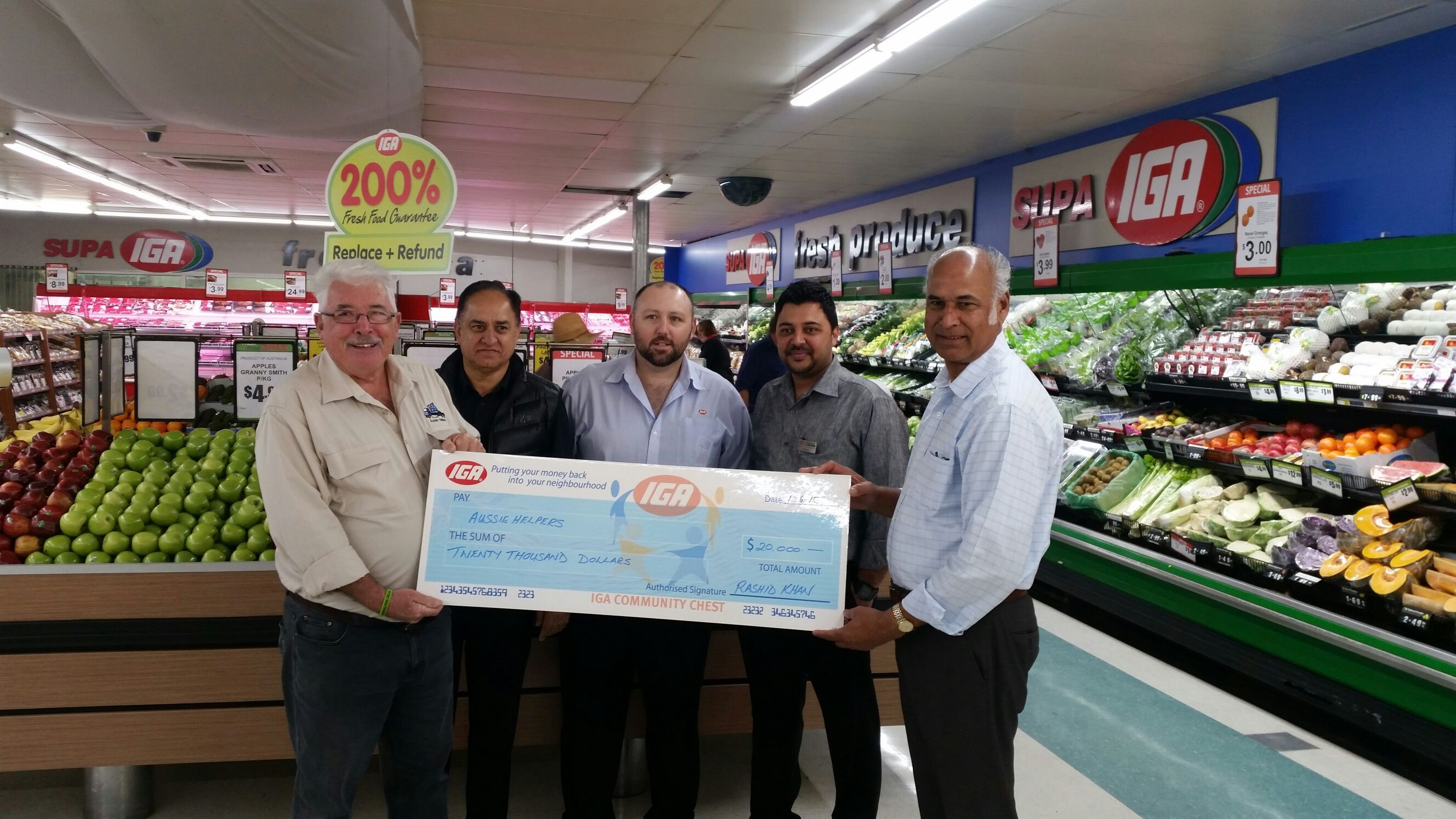 IGA supports Aussie Helpers June 2015
