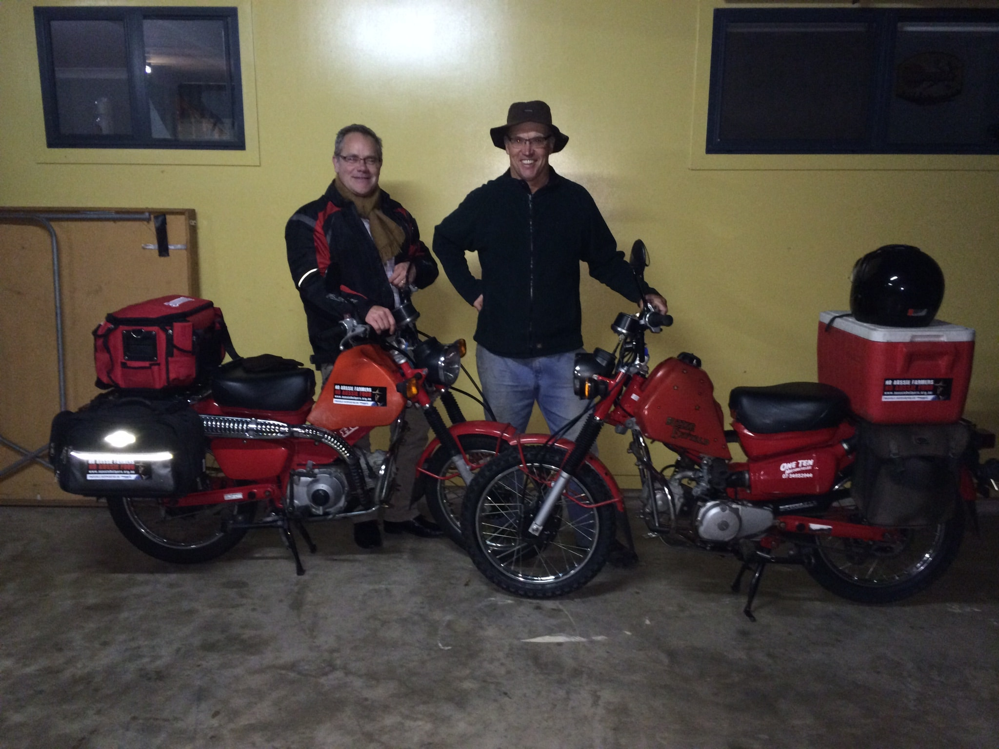Rick and Phil's Postie Ride for Our Farmers