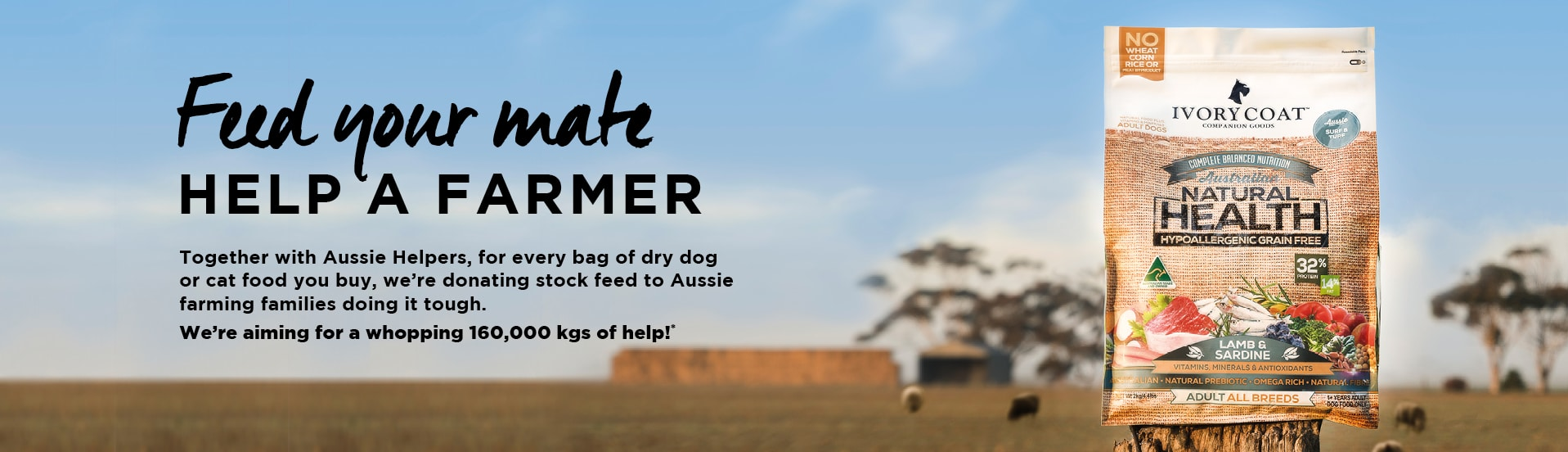 IVORY COAT LAUNCHES 'OUTBACK GIVEBACK' CHARITABLE CAMPAIGN WITH AUSSIE HELPERS