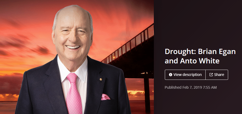 MEDIA:  Alan Jones interview with Brian Egan Aussie Helpers – QLD Flooding Disaster 2019